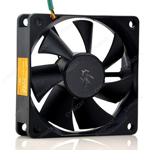 CYRMZAY Ventilador Compatible para Sunon GM1207PKVX-A 7CM 7020 12V 2.5W 3WIRE Proyector axial Ventilador de refrigeración