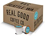 Real Good Coffee Co Donut Shop Medium Roast Recyclable Coffee Pods, K-Cup Compatible including Keurig 2.0 Brewers, 72 Count