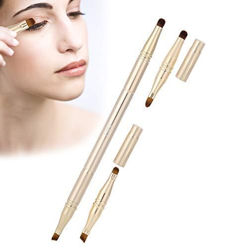 4 brosses cosmétiques in1Multifunctional, sourcil de fard à paupières professionnel de crayon correcteur de lèvre maquillent la brosse avec la brosse de maquillage de base de couvercle