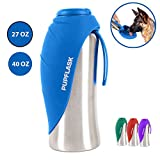 Tuff Pupper PupFlask Portable Water Bottle Walking | 24 OZ Stainless Steel | Convenient Dog Travel Water Bottle Keeps Pup Hydrated | Portable Dog Water Bowl & Travel Water Bottle Dogs (Nebulas Blue)
