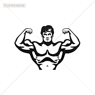 Decal Stickers Body Builder Motorbike Boat (8 X 5,42 In. ) Vinyl color Black