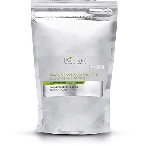 Bielenda - Maschera professionale lenitiva per il viso con alghe, con cetriolo e aloe vera, 190 g