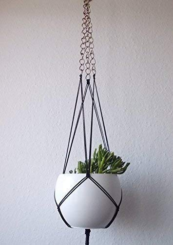 Arlington Mall In a popularity Macrame plant hanger chain with metal