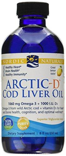 Nordic Naturals Aceite De Higado De Bacalao Arctic-D, Limón - 237 Ml. 1 Unidad 400 g