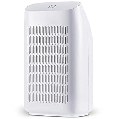 HHSUC Dehumidifier Electric Home Mini Dehumidifiers for Bedroom?Bathroom?Kitchen, Caravan 700ml (24fl.oz) Capacity up to (215 sq ft)?White from HeHui-DG
