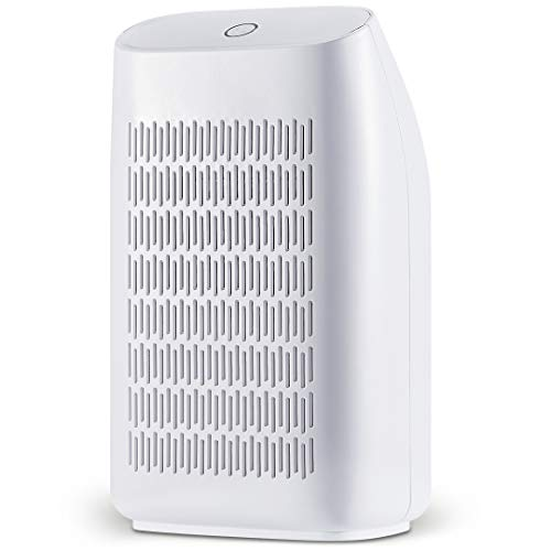 HHSUC Dehumidifier Electric Home Mini Dehumidifiers for Bedroom,Bathroom,Kitchen, Caravan 700ml (24fl.oz) Capacity up to (215 sq ft),White