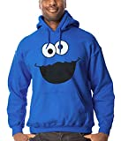 Cookie Monster Face Adult Hoodie-Small Royal Blue