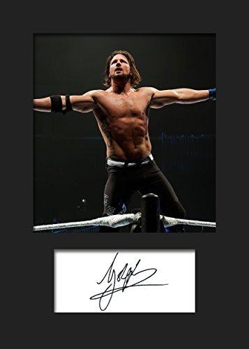 AJ Styles WWE #2 | Signierter Fotodruck | A5 Größe passend für 6x8 Zoll Rahmen | Maschinenschnitt | Fotoanzeige | Geschenk Sammlerstück