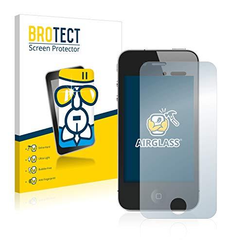 BROTECT Panzerglas Schutzfolie kompatibel mit Apple iPhone 4S - 9H Extrem Kratzfest, Anti-Fingerprint, Ultra-Transparent