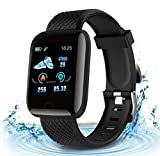 2020 New Model Smart Watch ,Men's and Women's Fitness Tracker, Blood Pressure Monitor, Blood oximeter, Heart Rate Monitor, Waterproof Smart Watch, Compatible with iPhone/Samsung/Android Phones -Black