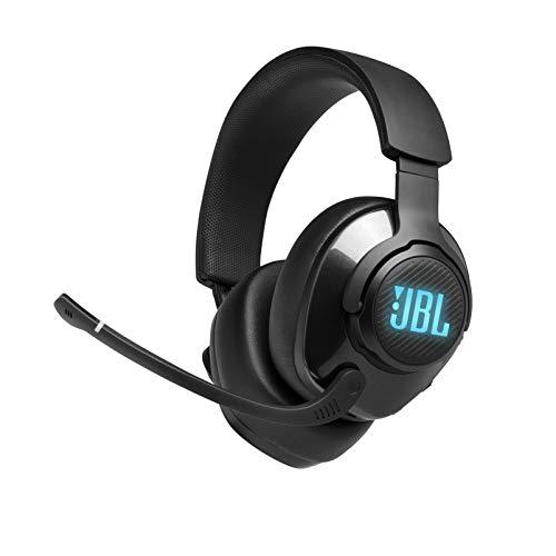 JBL Quantum 400 - Auriculares de diadema con cable para videojuegos con USB y dial de equilibrio para chat, color negro