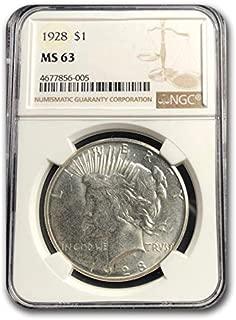 1928 Peace Dollar MS-63 NGC (Key Date) $1 MS-63 NGC