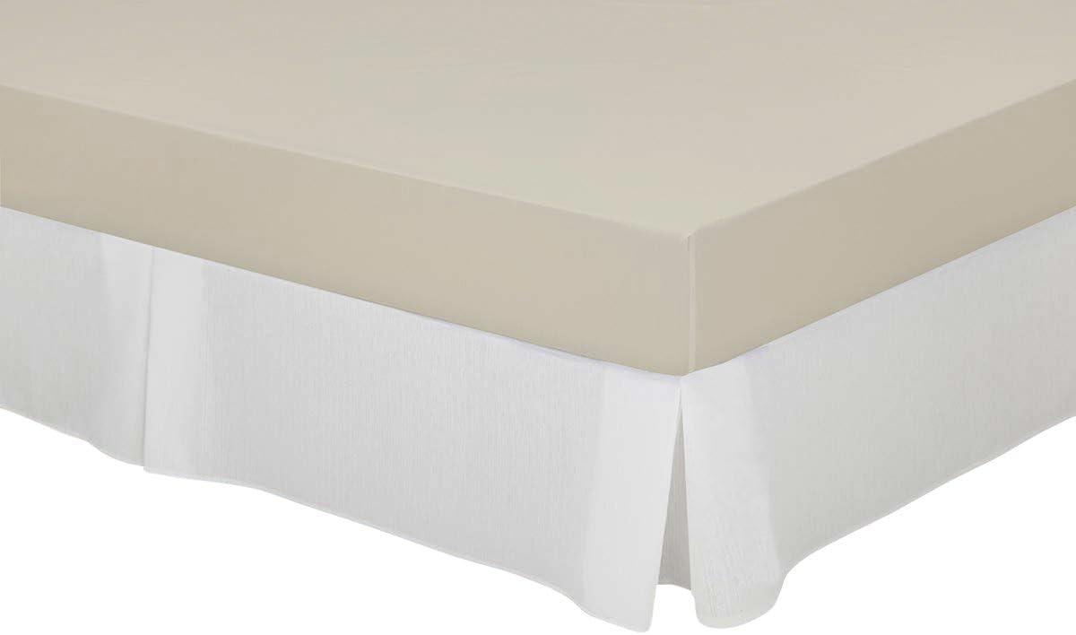 Cassa Luyton Cubre canapé loneta de Fuelles, Algodón-Poliéster, Blanco, 150 x 200 cm