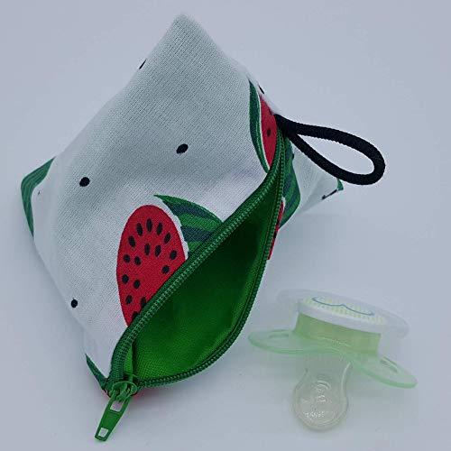 Aufbewahrung Schnuller-Tasche XL für 2-4 Nuckel Melone