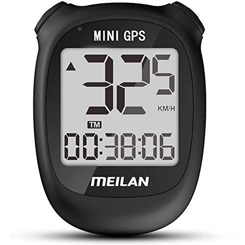 Cmeilan GPS Mini Smart Fahrradcomputer Drahtlos Wasserdicht Fahrrad Fahrrad Tachometer USB Wiederaufladbar MEILAN M3 (schwarz)