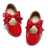 Felix & Flora Toddler Red Princess Dress Shoes Size 7 Flower Girl Mary Jane Ballet Flats for Wedding Party
