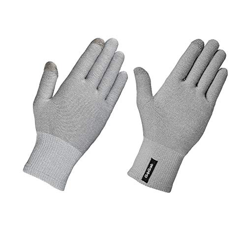 GripGrab Merino Unterzieh Handschuh, Grau, M/L