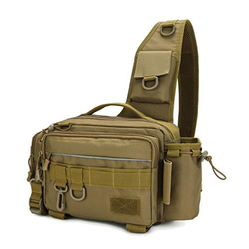 Bolso de Hombro Militar táctico de Pesca Multifuncional, Paquete de Cintura para Acampar, Caza, Aparejos de Pesca, señuelos, Bolso Bandolera