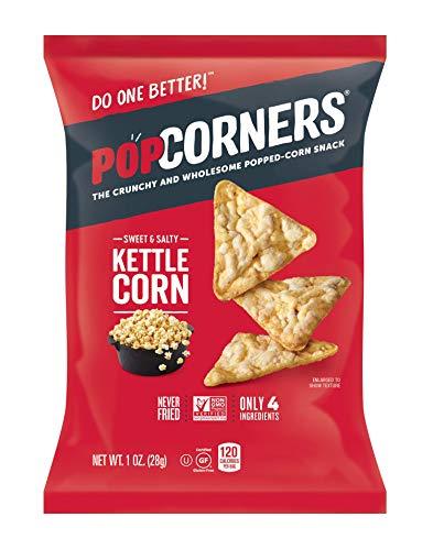 Popcorners Kettle Corn Snack Pack   Gluten Free, Vegan Snack  , 20Count