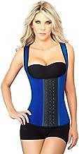 Ann Chery Women's 3 Hooks Body Shaper Latex Sport Vest Shapewear, Blue 4XL/44