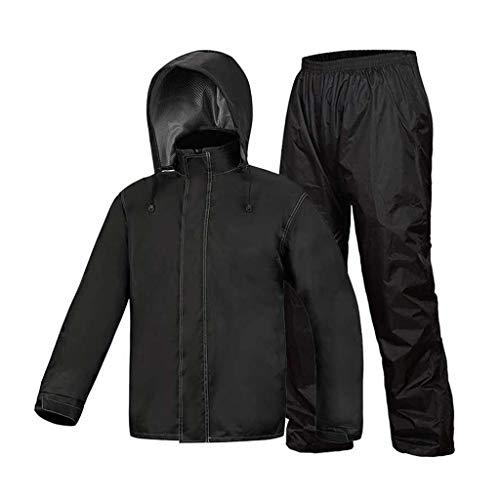 Conjunto Impermeable de Traje de Lluvia Chubasquero Impermeable + Pantalones Impermeables Vehículos...