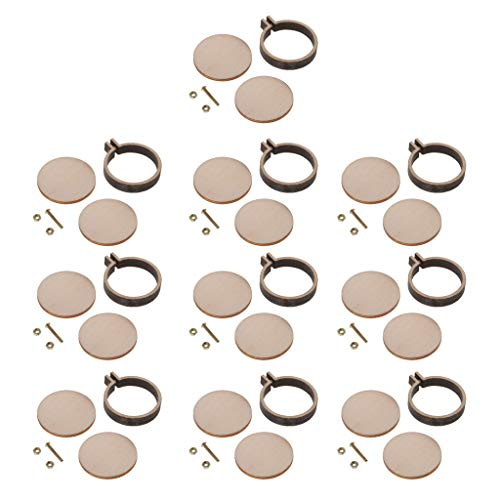 B Baosity 10 Stück Mini-Rund-Stickrahmen aus Holz - Kreuzstich, Kunst, Bastel-Werkzeug
