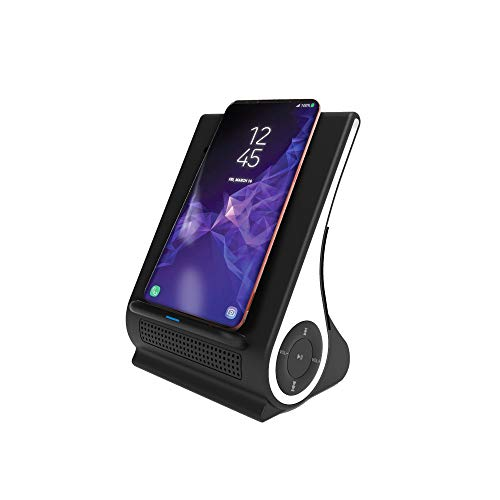 Fast Wireless Charger with Bluetooth Speaker Dock Station for iPhone