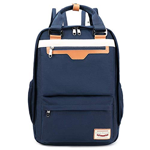 Myhozee Backpack Mens Womens,15.6 Laptop Rucksack Handbag School Bag for Travel/Business/College- Blue