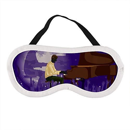 Man spelen Piano in Muziek Band Performanc Slaap Oog Masker Slapende Maskers Blinddoek Katoen Oog Kussen Zacht voor Vrouwen Mannen Reizen Naps Gepersonaliseerd