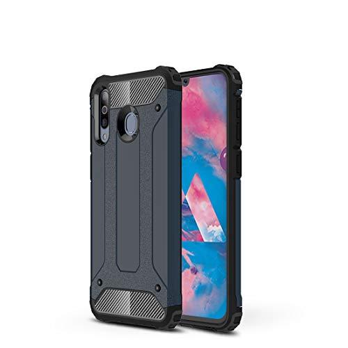 Carcasa de acero para Samsung Galaxy M30, resistente y duradera, funda protectora de grado militar, goma interior de TPU + PC avanzada (color nany color)