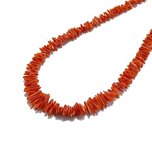 [キャセイコーラル] 赤珊瑚 ネックレス 天然無染色 チップ グラデーション シルバー 42cm + 5cm アジャスター付き cn-A0044