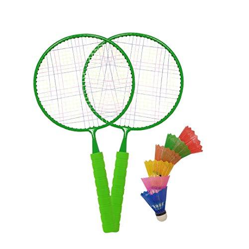 Macro - Juego de bádminton Gigante con 2 Raquetas, Juego para niños, Patio Trasero, Parque Infantil, Verde