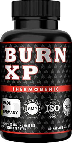 BURN XP - Thermogener Burner, von führenden Body-Experten entwickelt, mit Carnitin + Grüner Tee Extrakt, wissenschaftliche Formel, Made in Germany, 60 Kapseln