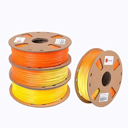 KYUUBI Orange to Yellow Color Changing with Temperature 3D Printer Filament PLA 1 75 mm 1 KG product image
