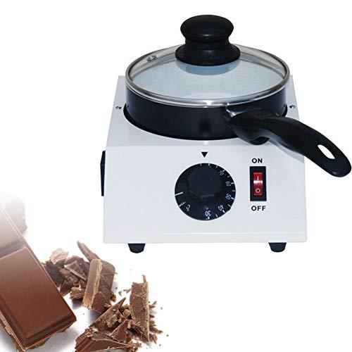 Schokoladen-Fondue-Set,Schokoschmelzer,Schokoladen-Fondue Schokolade Schmelztiegel mit Ceramic Chocolate Melting Pan,Temperiergerät Set,Elektrisches Schokoladenfondue