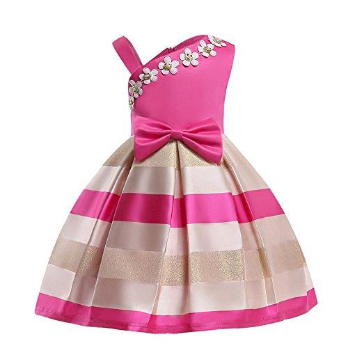 LZH Bebé Flor Vestido Encaje Princesa Boda Fiesta Cumpleaños Elegante Dama Honor del Desfile Vestir