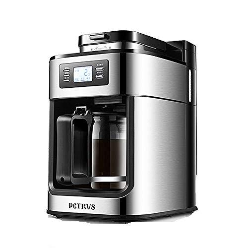 No logo T-C Bean Cup Filterkaffeemaschine Petrus / PE3200 Kaffeemaschine Haushalt vollautomatisch im amerikanischen Stil Mahlwerk All-in-one Kaffeemaschine klein 600ml, 590W warme Funktion