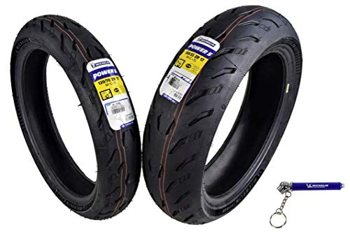 Michelin Pilot Power 5 Radial Sport Bike Motorcycle Tire 120/70-17 180/55-17 (120/70ZR17 Front 180/55ZR17 Rear)