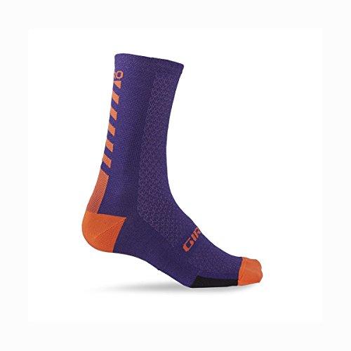 Giro Mtb Socken 2017 Hrc Plus Merino Ultraviolet-Vermilli (X-Large , Purpur)