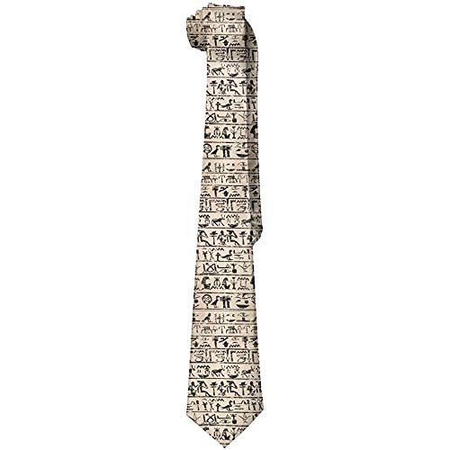 Lzz-Shop Mens Egyptische Hieroglyphen Mode zijden das gepersonaliseerde geschenk stropdas