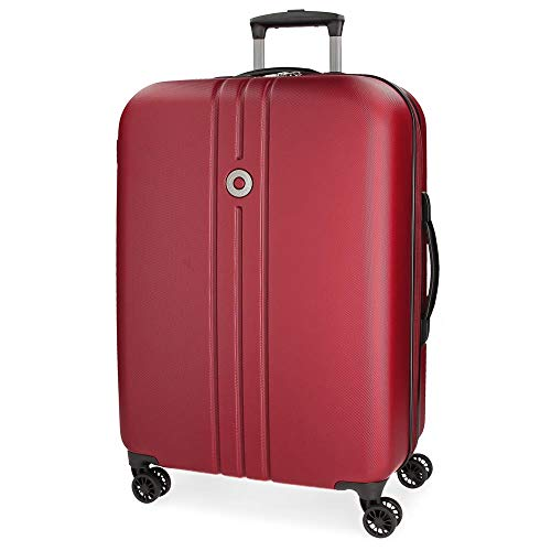 Movom Riga Maleta Mediana Rojo 49x70x25 cms Rígida ABS Cierre TSA 72L 3,4Kgs 4 Ruedas Dobles Extensible