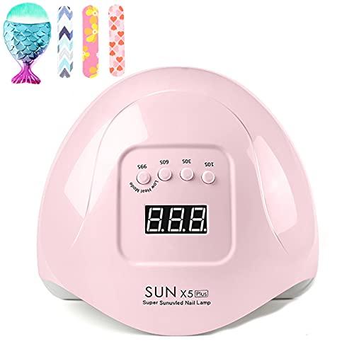 Secador de uñas, lámpara UV LED para uñas de gel, con temporizador de 10/30/60/99s, sensor de ajuste de pantalla LCD, secado rápido, lámpara de uñas de 110 W
