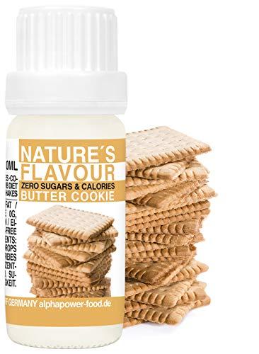 ALPHAPOWER FOOD aroma alimentare - Biscotti al burro 100% naturale, 1x10ml gocce - liquido Flavdrops - Flavour Drops