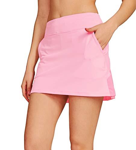 Westkun Falda Plisada De Tenis con CordóN EláStico Mujer Skort De Golf(Rosa Claro,L)