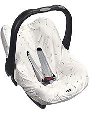 Original Dooky Seat Cover pokrowiec Dandelion do nosidełka dla niemowląt rozmiar uniwersalny pasuje do 3 i 5 punktowych szelek bezpieczeństwa, dla grupy wiekowej 0+, biały