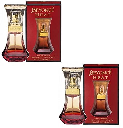 Beyonce Heat Eau de Parfum EDP Ladies Womens Fragrance Perfume 15ml 2 Pack
