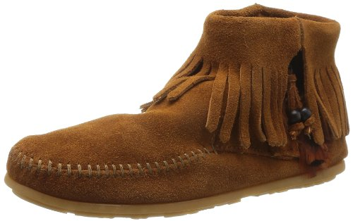 Minnetonka Damen CONCHO FEATHER BOOT Mokassin Stiefel, Braun (Brown 2), 40 EU