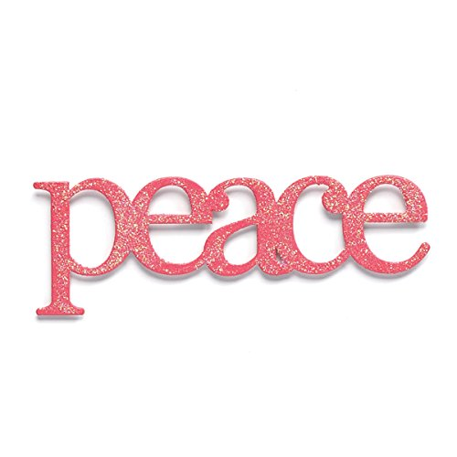 Embellish Your Story Pink Glittered Peace Magnet - Embellish Your Story Roeda 100760-EMB