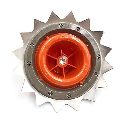 bgfh SteelHigh-Carbon Trimmer Head Cabezal de Recorte de Doble Uso Herramientas de Cortador de Cepillo Disco de Corte con líneas de Nailon Herramientas de Mano de jardín