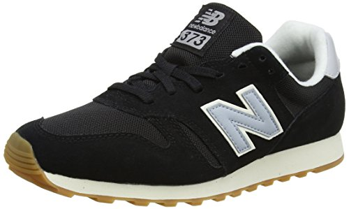 New Balance 373, Sneaker Uomo, Nero (Black/Blue), 42.5 EU